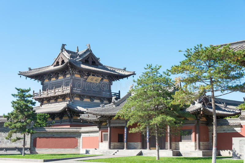SHANXI, CHINA - Sept 25 2015: Huayan Temple. a famous historic royalty free stock image