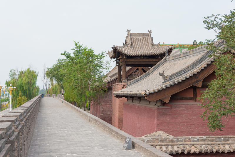 SHANXI, CHINA - 03 Sept. 2015: Shuanglintempel (Unesco-Wereld Heri royalty-vrije stock afbeelding