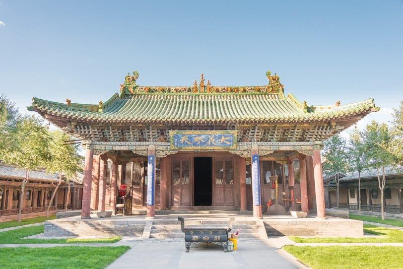 SHANXI, CHINA - Sept 18 2015: Templo de Guandi um histórico famoso imagem de stock royalty free