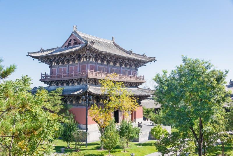 SHANXI, CHINA - Sept 25 2015: Templo de Huayan um histórico famoso fotografia de stock royalty free