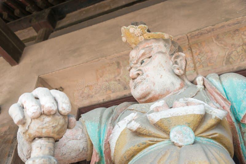 SHANXI, CHINY - Sept 03 2015: Budda statua przy Shuanglin świątynią (U zdjęcie royalty free