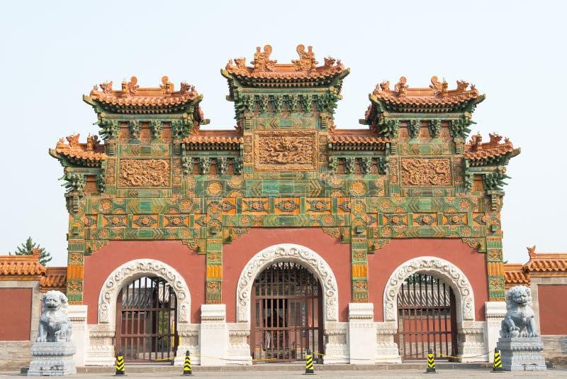 SHANXI, CHINY - Sept 21 2015: Fahua świątynia sławny Historyczny S fotografia royalty free