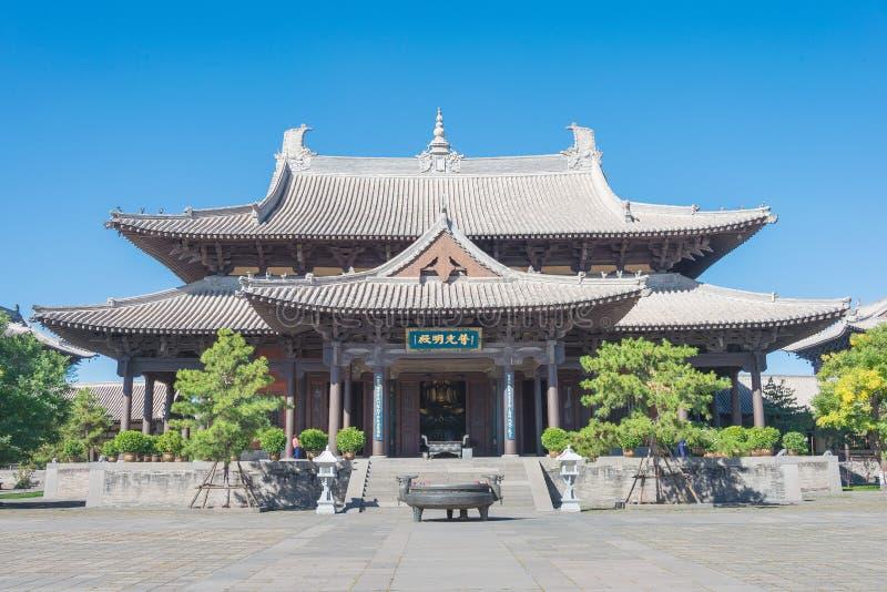 SHANXI, CHINY - Sept 25 2015: Huayan świątynia sławny Historyczny zdjęcie royalty free
