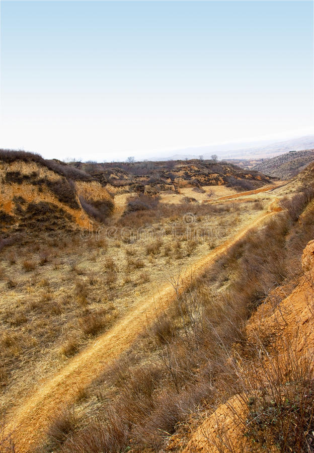 Free Shanxi Loess Plateau Road Stock Images - 14385064