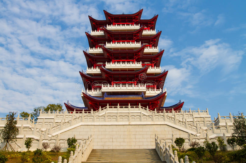 Shao Yang Tower Shaoguan. Shao Yang Tower is the best place to overlook the whole city of Shaoguan royalty free stock photos