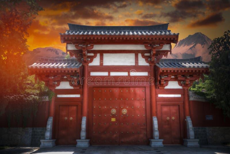 Shaolin è un monastero buddista in Cina centrale fotografia stock