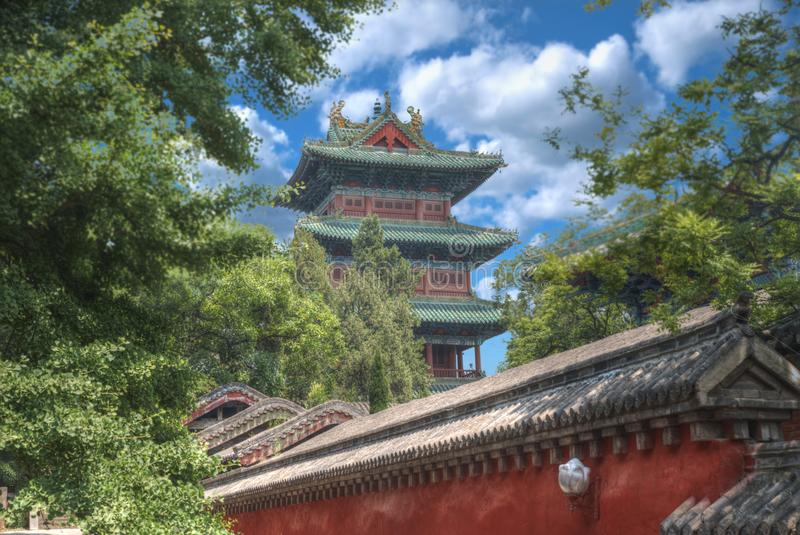 Shaolin è un monastero buddista in Cina centrale immagini stock libere da diritti