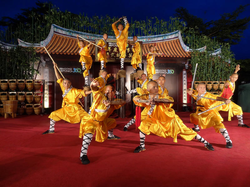 Shaolin świątynia Chiny wykonuje w NP360 zdjęcie royalty free