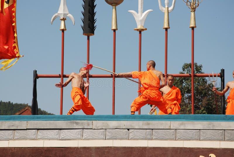 Shaolin Kung fu obrazy royalty free