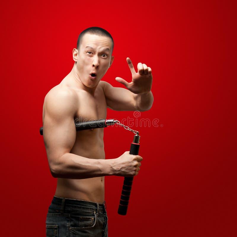 Shaolin Mönch stockbild