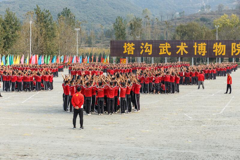 Shaolin Martial Arts School royalty-vrije stock afbeeldingen