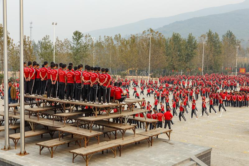 Shaolin Martial Arts School stock foto
