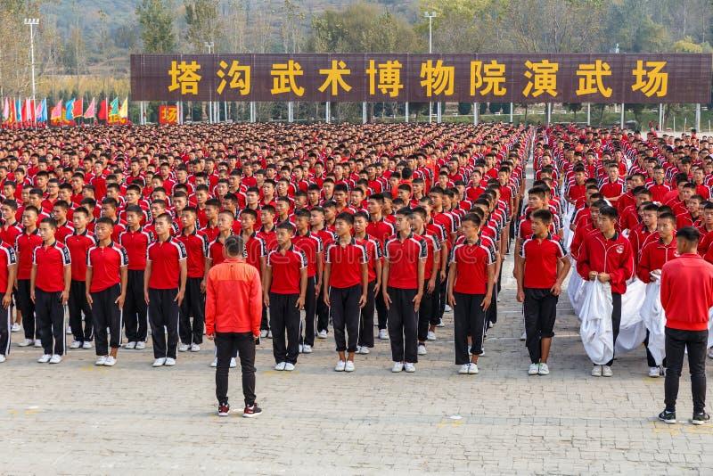 Shaolin Martial Arts School royalty-vrije stock foto's