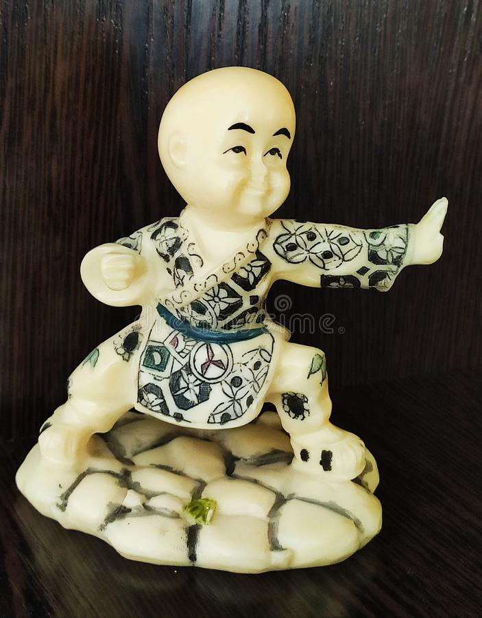 Shaolin Monk - Chinese Figurine royalty-vrije stock fotografie