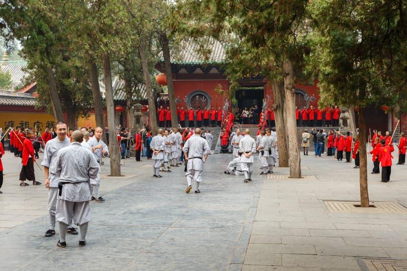 Shaolin tempelKungfu skola arkivbilder