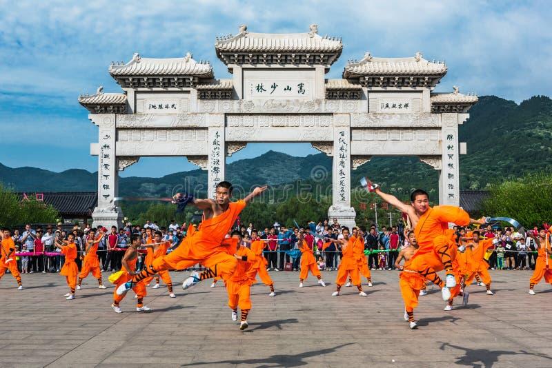 Shaolin Temple in Henan-Provinz, China stockbild