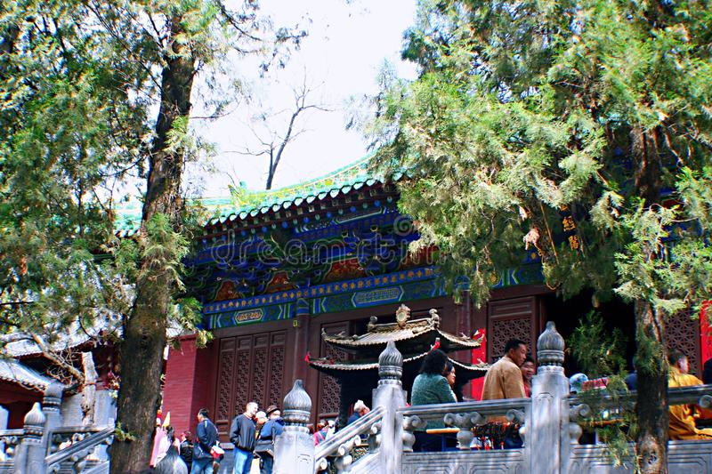 Shaolin Temple in Songshan. Shaolin Temple is located in Songshan, five, Dengfeng, Zhengzhou, Henan. It is called & x22;Shaolin Temple& x22; because it is royalty free stock images