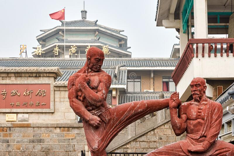 Shaolin Temple in Luoyang, China stock fotografie