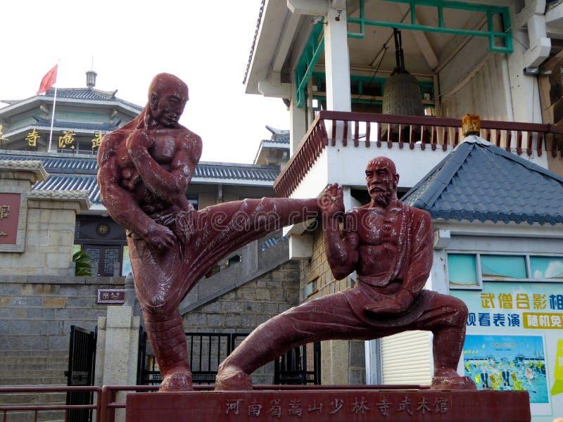 Shaolin Temple Skulptur stockfoto
