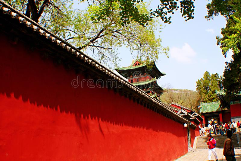 Shaolin Temple in Songshan. Shaolin Temple is located in Songshan, five, Dengfeng, Zhengzhou, Henan. It is called & x22;Shaolin Temple& x22; because it is stock images