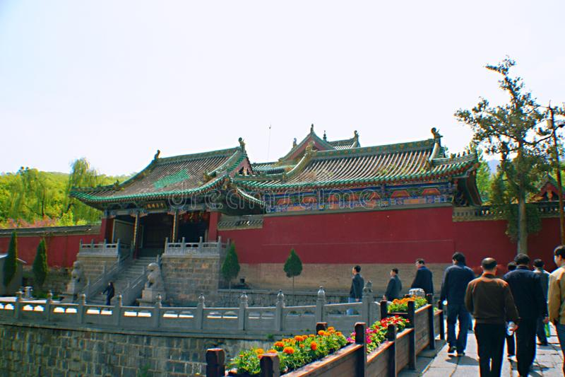 Shaolin Temple in Songshan. Shaolin Temple is located in Songshan, five, Dengfeng, Zhengzhou, Henan. It is called & x22;Shaolin Temple& x22; because it is stock photography