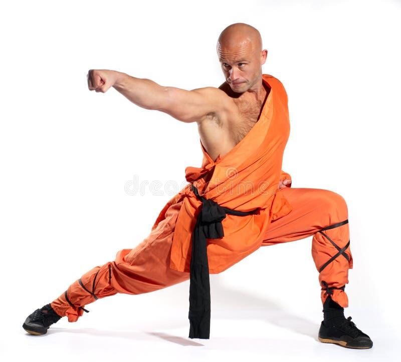 Shaolin warrior monk royalty free stock image