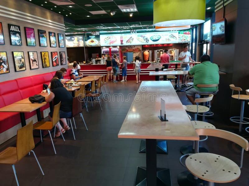 Shaorma do fast food foto de stock