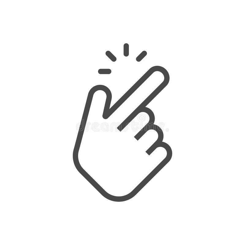 Shap finger icon. Shap finger pointer isolated on white background. Vector vector illustration
