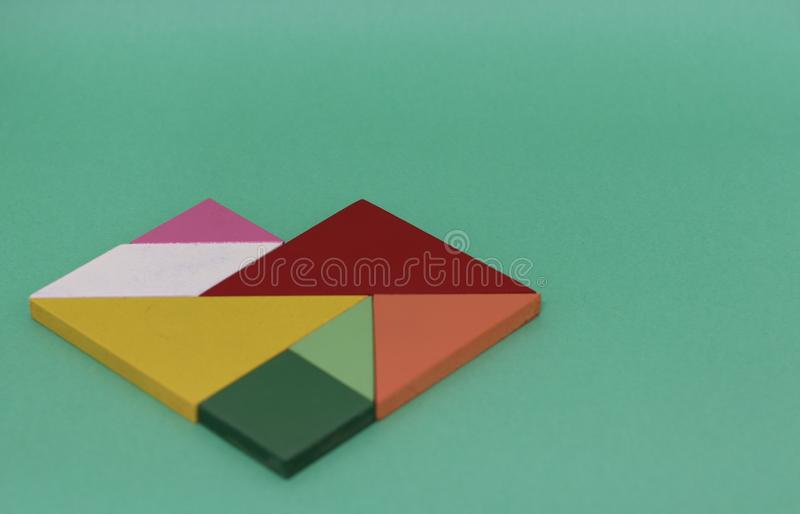 shape formed by tangram pieces royalty free stock photo