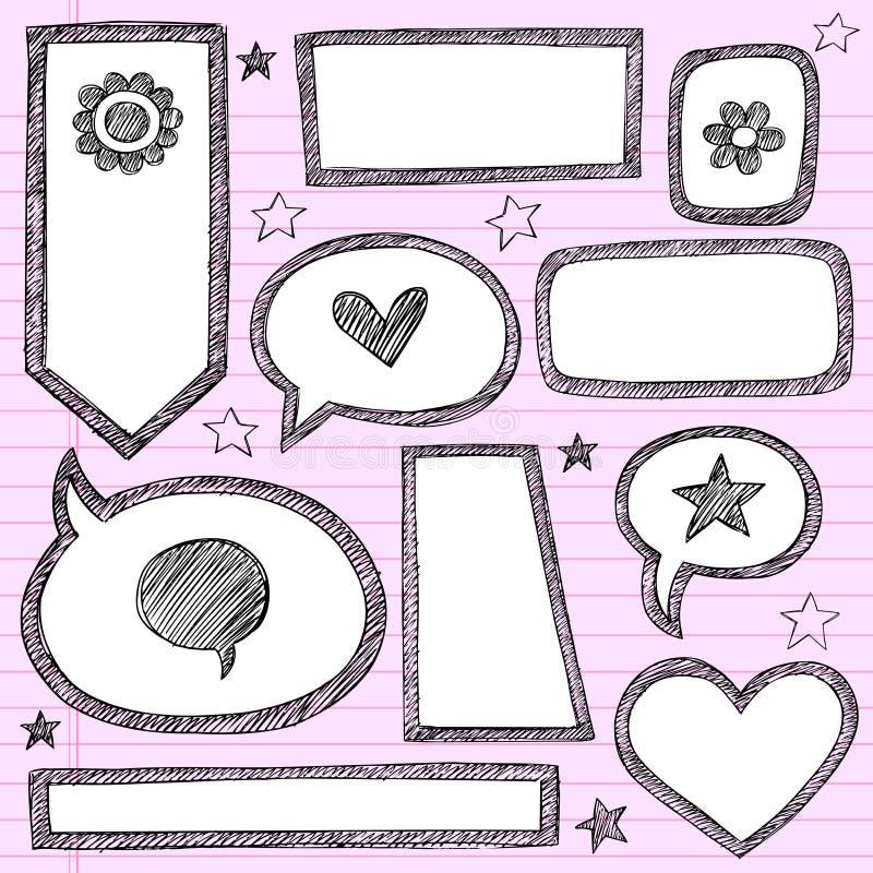 Download Shape Frames Sketchy Doodle Vector Set Stock Photos - Image: 23453533