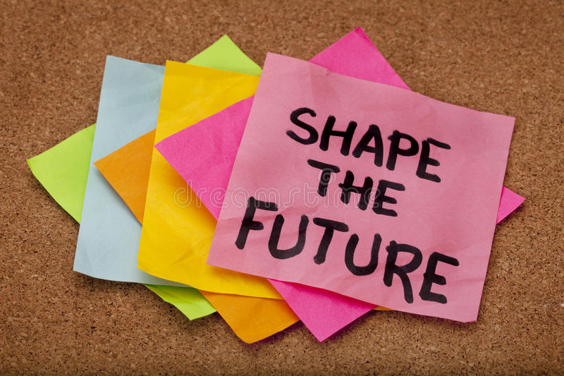 Shape the future stock photo