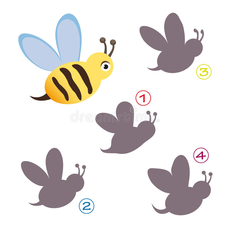 Shape game - the bee stock photo