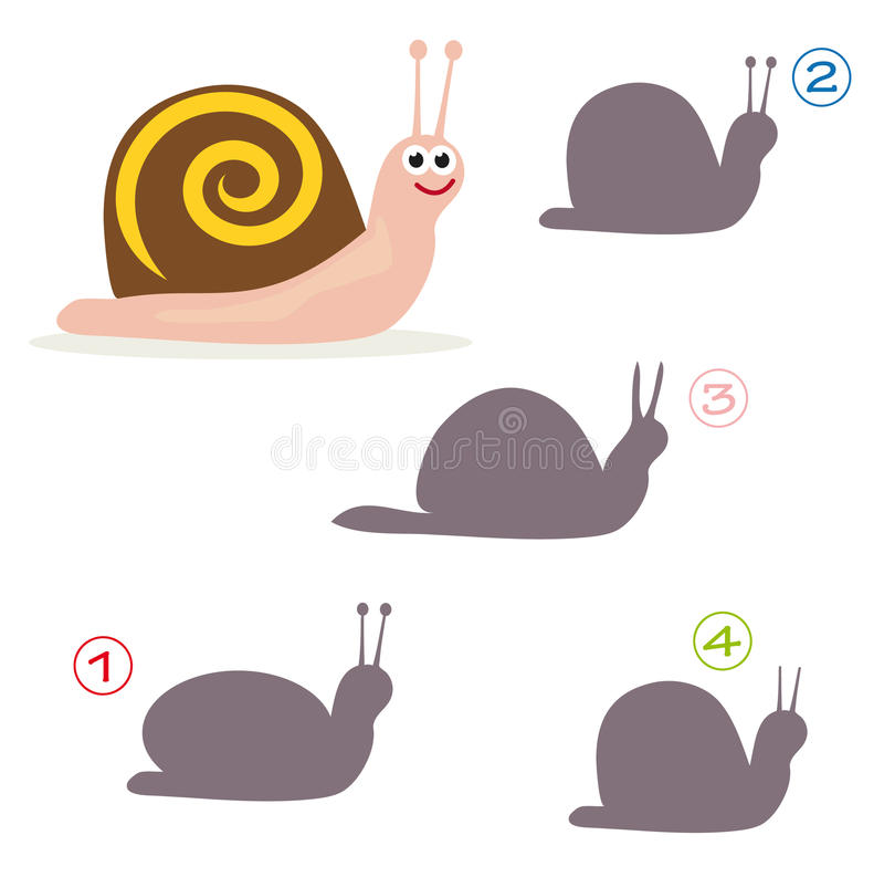 Shape game - the snail royalty free illustration