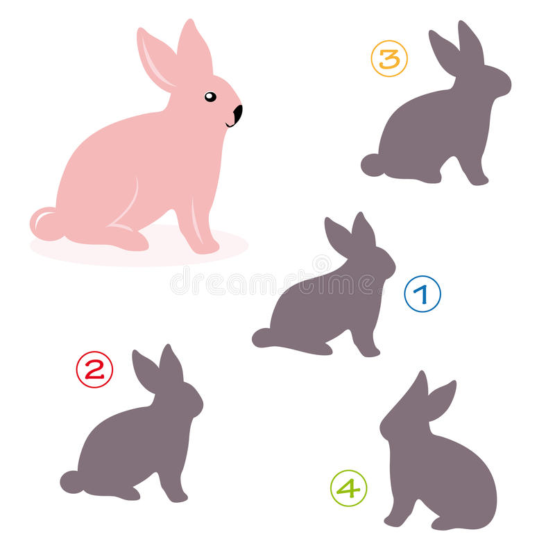 Free Shape Game - The Bunny Royalty Free Stock Photos - 16939028