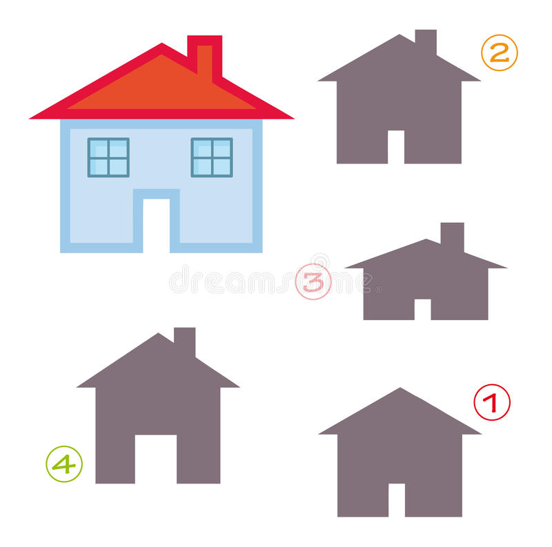 Free Shape Game - The House Royalty Free Stock Photo - 16939825