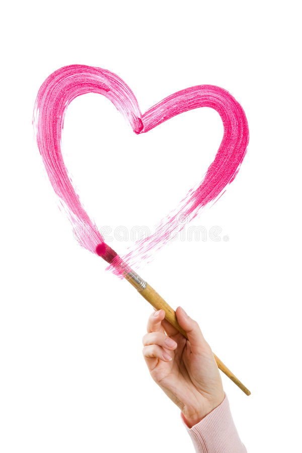 Shape of heart royalty free stock photo