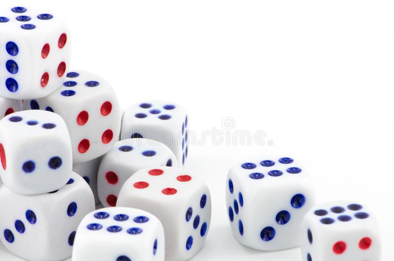 Shape illustrations background abstract, pattern texture. Devices, number, throwing & betting. Gambling dice, chances game, business conceptual, isolated on royalty free stock images