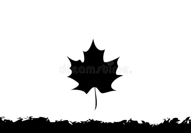 Shape of leaf on white background. Illustration design royalty free stock images