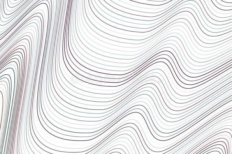 Shape of line, curve & wave, abstract geometric background pattern. Illustration, creative, vector & surface. royalty free illustration