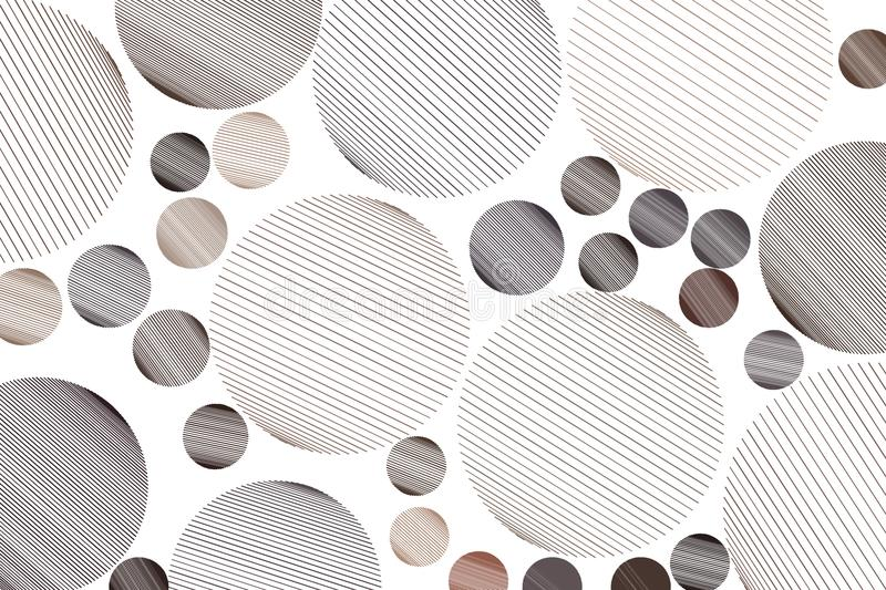 Shape of messy random line circles, abstract geometric background pattern. Effect, canvas, art & creative. vector illustration