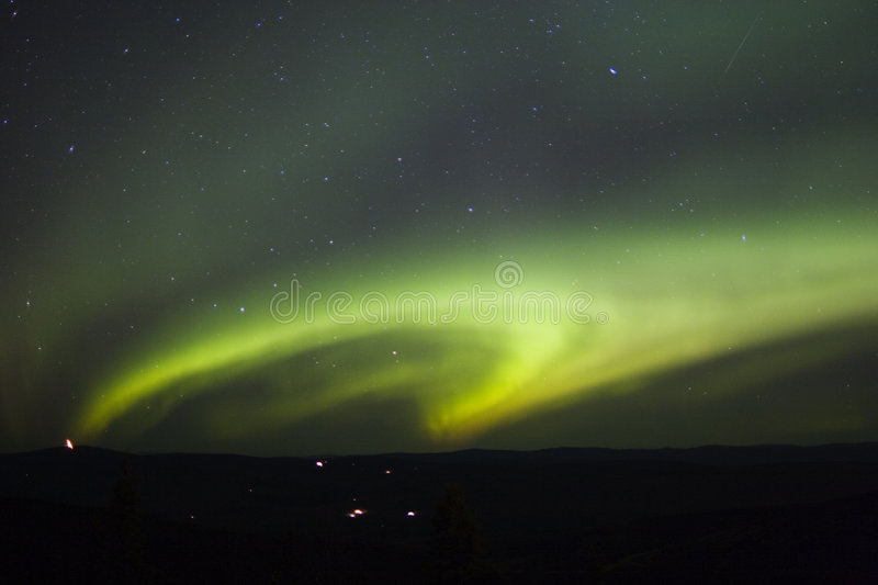 Shape of northern lights royalty free stock photos
