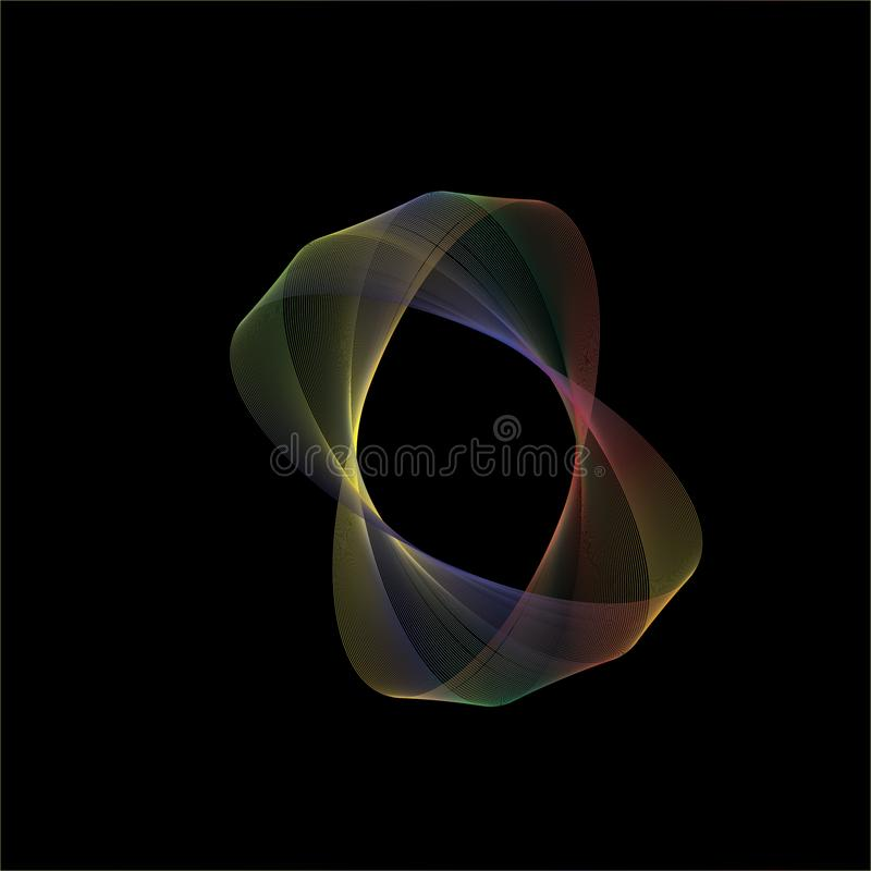 Shape of oval rotation. This is an abstract form of oval rotate motion royalty free illustration