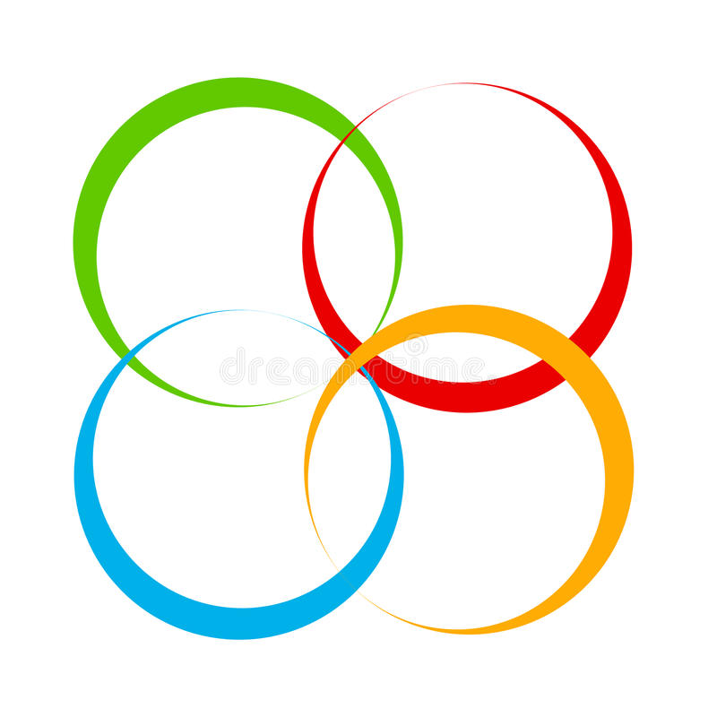 Free Shape With Overlapping Circles Motif. Geometric Intersecting Cir Stock Photography - 95587442