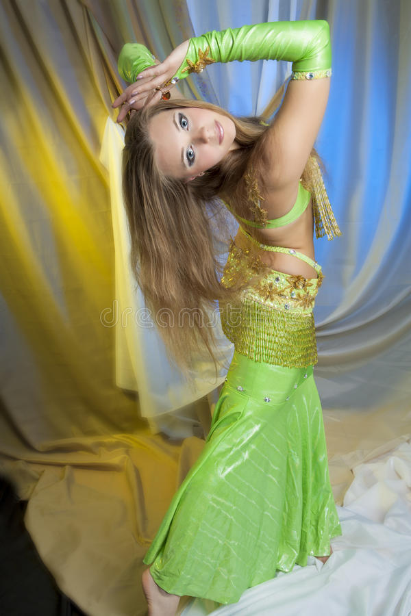 Shaped belly dancer royalty free stock photography