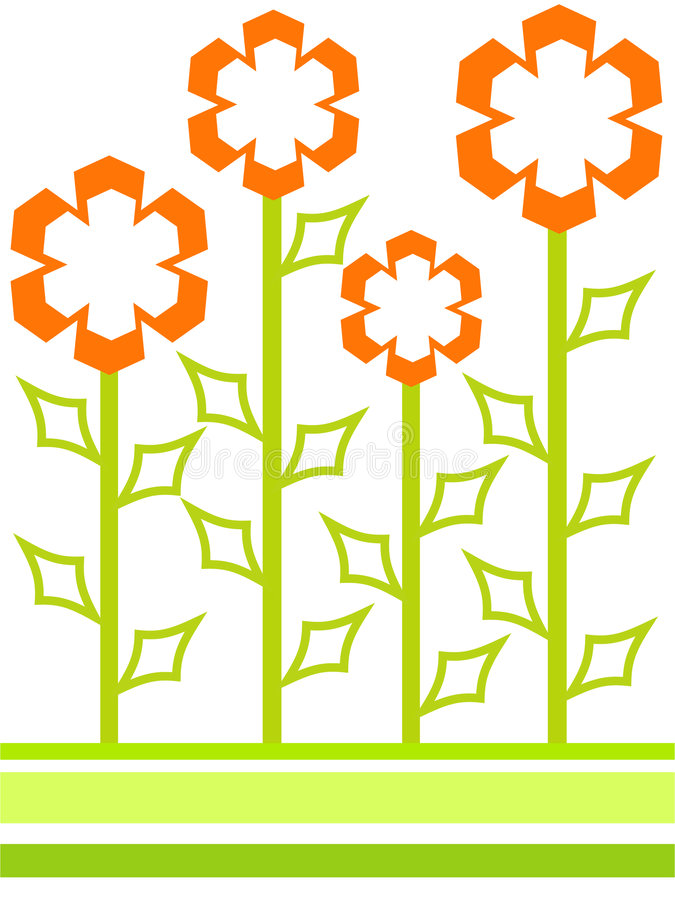 Download Shaped flowers stock illustration. Image of green, illustration - 973392