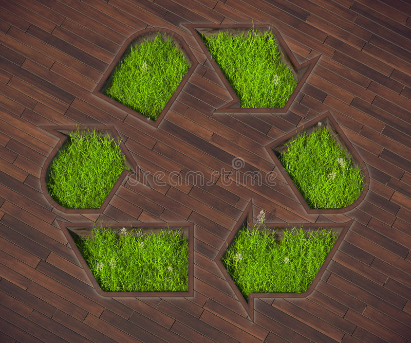 Shaped lawn icon recycling stock photography