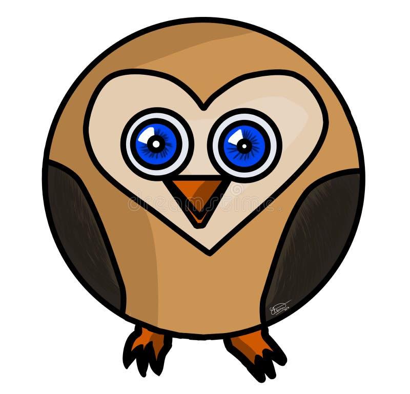 Shaped Owl royalty free stock image