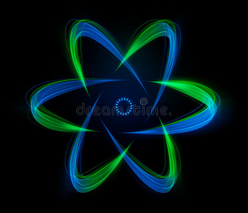 Download Shaped Streaks Of Light - Atomic Energy Stock Illustration - Image: 23719581