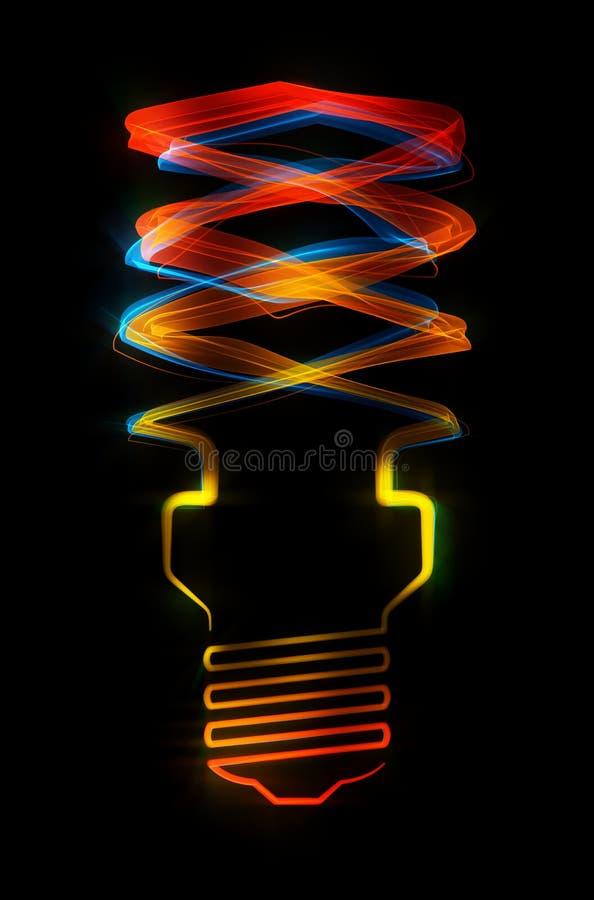 Shaped Streaks Of Light - Energy Saving Lamp Royalty Free Stock Images