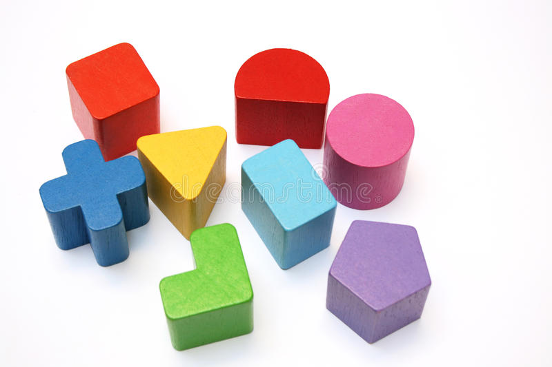 Shapes and colors stock photos